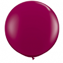 3ft Giant Balloons - Burgundy Latex Balloon 1pc
